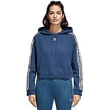 adidas Cropped Hoodie Sudadera, Mujer, Azul (Azumin), 46