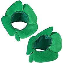 BESTOYARD 2 Unids Divertido Día de San Patricio Sombreros Diadema Trébol de Cuatro  Hojas Irlandés Trébol 2d94dd38f9d8