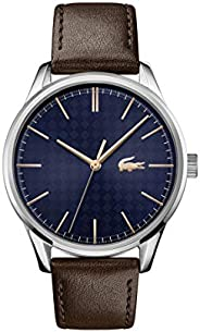 Lacoste Men's Blue Dial Brown Leather Watch - 201