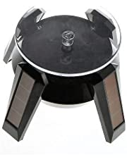 Sharp choice Solar Powered Display Stand, Solar Powered Showcase 360 Turntable Rotating Jewelry Ring,Bracelet Watch, Mobile Phones Ring Display Stand