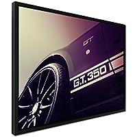 105x 75cm quadro–colore malva–su tela inkusive Ombra fugen cornice nero–Shelby Mustang GT 350