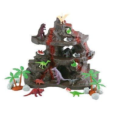 Toy Hero Dinosaur Volcano Playset - 27 Pieces
