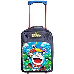 Worldcraft Doraemon 15 inch Waterproof Trolley Hybrid Children's Backpack (Blue)