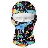 Pastello Neon Dinosauri Winter Ski Maschera a pieno facciale Protezione solare Cappuccio per uomo e donna