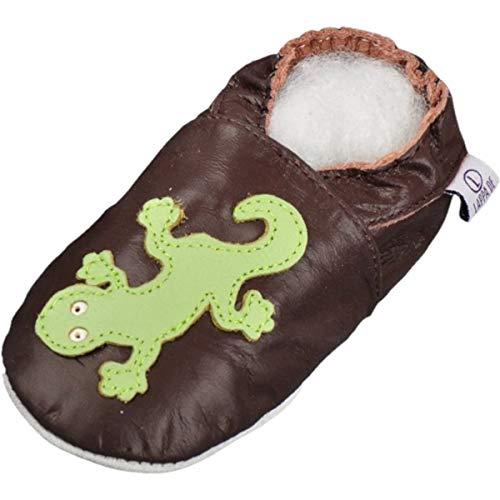 Geckos Lederpuschen, Krabbelschuhe, Wildledersohle von Lappa.de (2 - 3 Jahre)