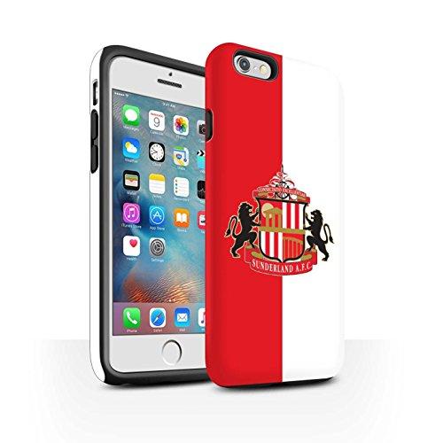 Offiziell Sunderland AFC Hülle / Matte Harten Stoßfest Case für Apple iPhone 6S+/Plus / Pack 6pcs Muster / SAFC Fußball Crest Kollektion Rot/Weiß