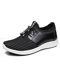 2017 los zapatos de los nuevos hombres del resorte y del verano calzan los zapatos corrientes ocasionales de los deportes de los hombres de las sandalias con los zapatos de la marea , black , 43