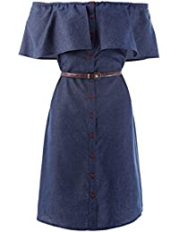 Kate Kasin Donna Estate Vintage Denim Senza Manica Bodycon Vestito Jeans  Bodycon Vestiti Mini Dress KK501 4e07769d832