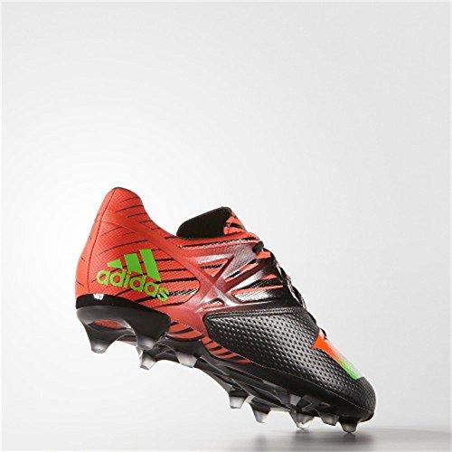 adidas Messi 15.2 FG/AG, Chaussures de Football Homme Noir-Rouge-Vert