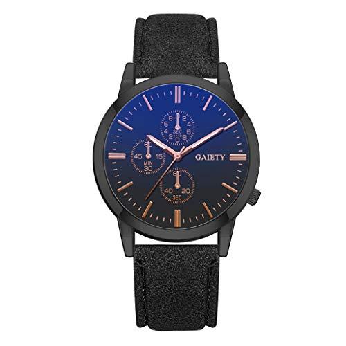 REALIKE Herren Quarzuhr Armbanduhr, Leder Armband Blaues Glas Outdoor Laufen Chronograph wasserdichte Uhren, Retro große Anzeige Sportuhr mit für Männer Cool Mehrfarbig Smart Watch