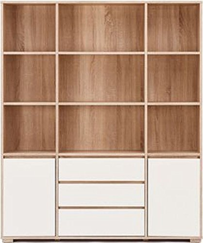 Urban Ladder Iwaki Solid Wood Book Shelf (Solid Oak)