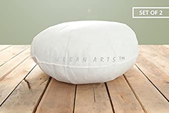 URBAN ARTS Polyester Round Cushion Fillers, 16x16-inch (White, UABK_PLR03_GREEN)