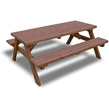 Rutland County Garden Furniture Pub Style Picnic Table Bench 6ft