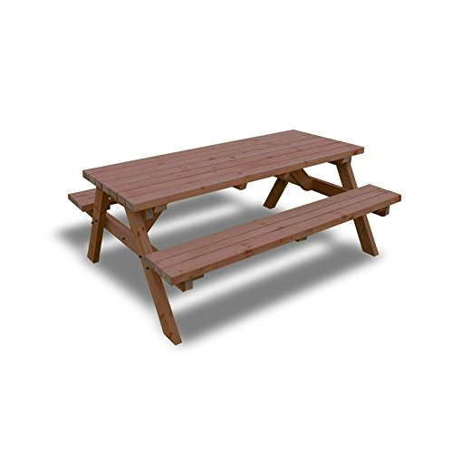 Rutland County Garden Furniture PUB STYLE PICNIC TABLE BENCH - 6FT - HEAVY DUTY - HAND MADE - RUSTIC BROWN - PRESSURE TREATED!!