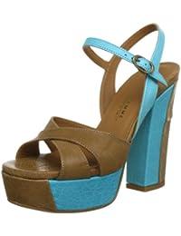 Latitude Femme EU 37 Zapatos de Salón Mujer Blanco/Fucsia Cuero AK103-B Q1Tv20