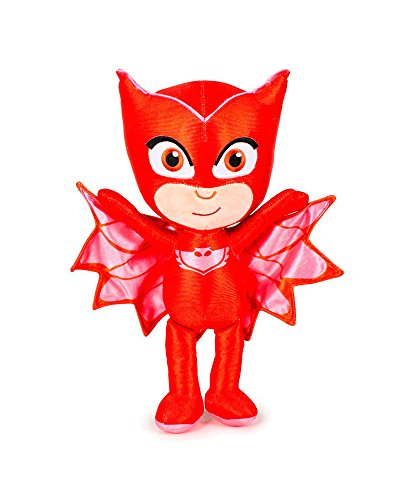 "PJ Masks 5961 Plush Toy, 9""/23cm, Quality Super Soft, Catboy, Owlette and Gekko (Owlette)"