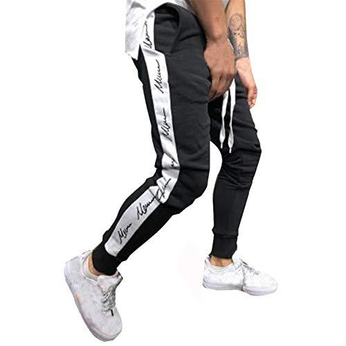 Pantalon Long pour Homme Patchwork Legging Automne Hiver Jogging Taille Basse Casual Cordon Pantalon de survêtement Toute la Longueur Pantalon Bellelo