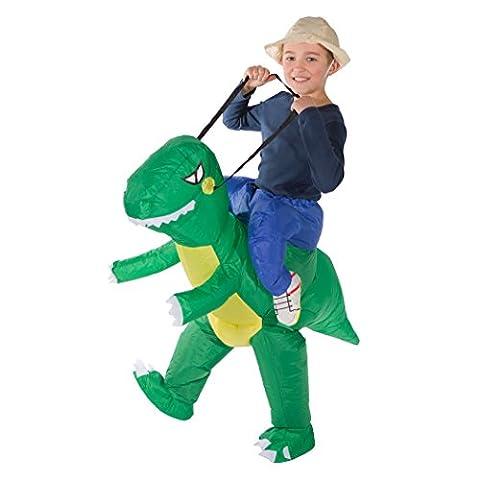 Aufblasbares Giraffenreitkostüm für Kinder Tiere Zoo Safari aufblasbares Kostüm (Dino) (Halloween Aufblasbare Kostüme)