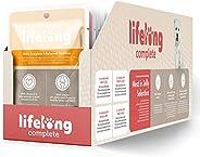 Marchio Amazon - Lifelong Alimento completo per cani adulti - Selezione di carne in gelatina 2,4 kg (24 sacche