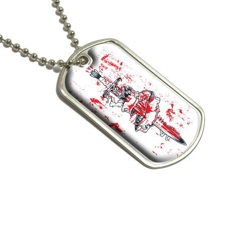 Sword verpackt in Banner Geschenkband–Blood Militärische Erkennungsmarke Gepäck Schlüsselanhänger (Banner Bekleidung)