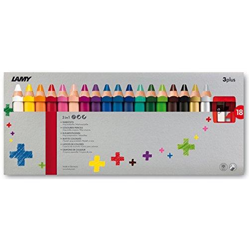 Lamy 1223549 Buntstift Set Farbstift 3plus 18er Faltschachtel