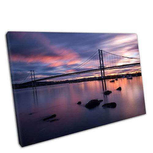 EACanvas Kunstdruck auf Leinwand, Motiv Sun Over Forth River Road Bridge Schottland, 36 x 24 Inch River Road Matte