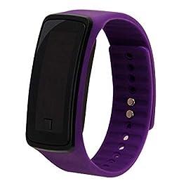 Bambini di orologio da polso digitale touch screen LED Bracciale Fascia di Orologio per bambini, nastro a Orologio Sportivo da Polso Orologio Orologio Viola
