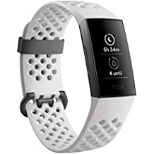 Fitbit Charge 3 Fitness Activity Tracker Special Edition (Graphite and White Silicone) with Offer on Accessory