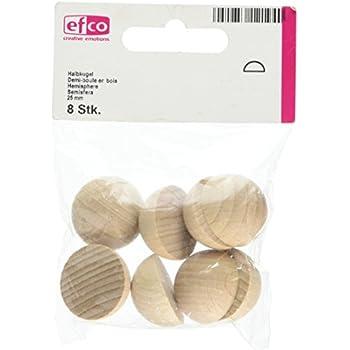 efco Rohholzkugeln 10 x 10 x 6 cm Braun Holz