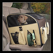 Valentina Valentti Luxury Dog Cat Puppy Pet Car Seat Carrier With Harness L Size Black