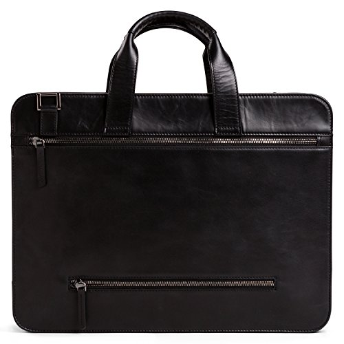 65563371a41b2 ... OFFERMANN Ledertasche Businesstasche Workbag 2 Handles als  Umhängetasche for Men inklusive 15 Zoll Laptopfach 8 Liter ...