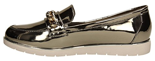 SwankySwans - Mocassini donna Gun Metal Grey