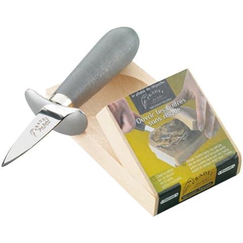 Pradel Jean Dubost 10629 - Base di legno + coltello per ostriche