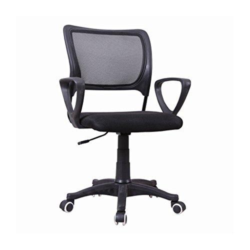 Bequeme Mesh-Task-Office-Stuhl, ergonomisches Design, Mesh gepolstert Sitzschale, 360-Grad-Schwenker, schwarz zurück (Größe-metall-stuhl Volle)