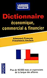 Dictionnaire de l'allemand économique, commercial & financier