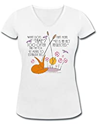 Spreadshirt The Little Prince Friendship Taming The Fox Women's Organic V-Neck T-Shirt by Stanley & Stella
