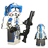 Custom Brick Design 501st Legion Jet Clone Trooper Figur V.2 - modifizierte Minifigur des bekannten Klemmbausteinherstellers und somit voll kompatibel zu Lego
