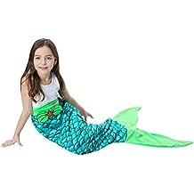 FYABB La Manta de la Cola de la Sirena para los Cabritos, Felpa Suave de
