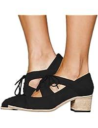 9450fb29d77 Zapatos de Tacón Medio Grueso para Mujer Primavera Verano 2019 PAOLIAN  Sandalias de Vestir Fiesta Elegantes