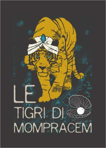 Posterlounge Hartschaumbild 60 x 80 cm: Le tigri di Mompracem von Timone