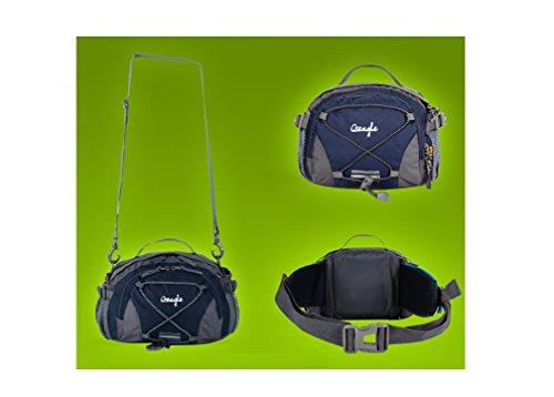 Outdoor peak NYLON Herren Damen Hüfttasche Gürteltasche Bauchtasche Tactical Taschen Bergsporttasche Männer und Frauen Fahrrad tragbaren Messenger Taille Bag Brusttasche Sport für Handy, Schlüssel, Ge dunkelblau