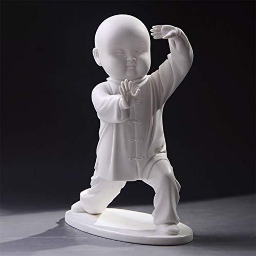 Escultura resina Cerámica Estilo oriental Taiji Kung