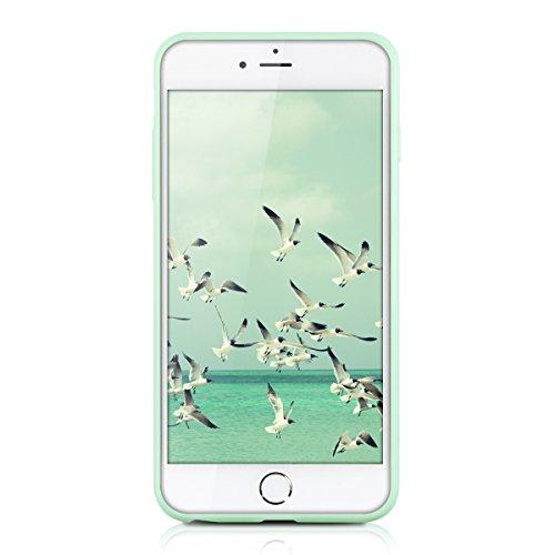 kwmobile Étui en TPU silicone élégant pour Apple iPhone 6 Plus / 6S Plus en bleu foncé mat .menthe mat