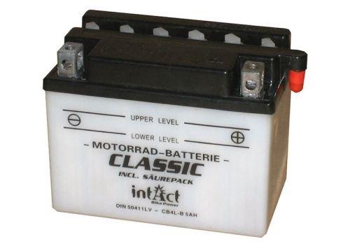 12V 5Ah Batterie CB4L-B YB4L-B (121 x 71 x 83 mm) für Roller Motorrad z.B. NRG Power, Runner, ET4 LX 50 - Lx Batterie