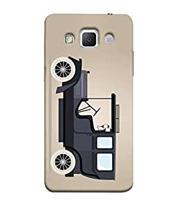 Samsung Galaxy Grand 3, Samsung Galaxy Grand Max G720F Back Cover Vintage Car Design From FUSON