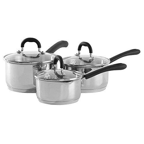 ProCook Gourmet Steel Induction Saucepan Set 3 Piece