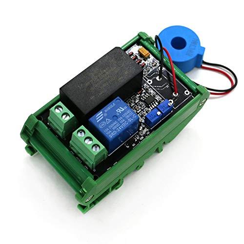 Zhaolan-Electronic Product Kleine Module AC Erkennungssensor-Modul Das Maximum 50A Switch, Börsen-Modul, Schaltausgang AC 220 V (Bundle : 0 to 50A Plus Base)