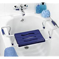 Wenko 7339500 asiento para bañera Secura colour azul - extensible, 150 kg Capacidad de carga, de plástico de colour - de polipropileno, 55-65 x 18 x 26 cm, colour azul