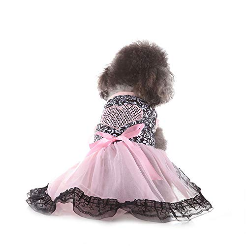 CLLUZU Hund Hawaiian Kleid Liebe Gaze Party Prinzessin Kleid Polyester Kleider für Hunde Haustier Sommerkleidung