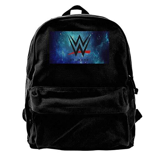Canvas Backpack WWE Champion Rucksack Gym Hiking Laptop